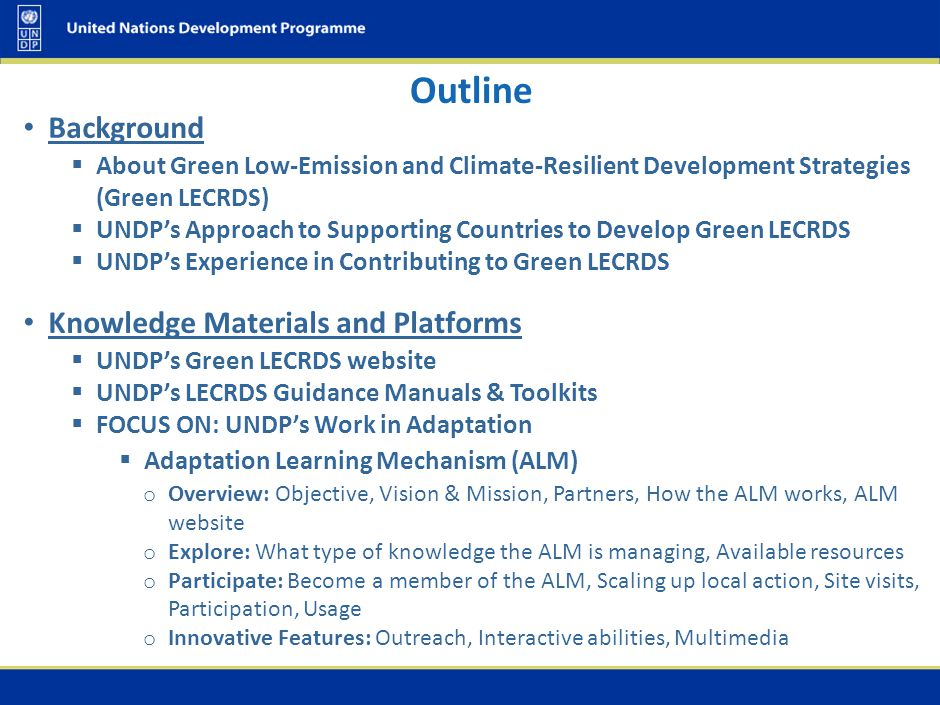 Background About Green Low-Emission and Climate-Resilient Development Strategies (Green LECRDS)
