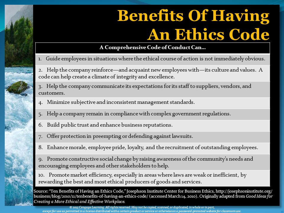A Comprehensive Code of Conduct Can…