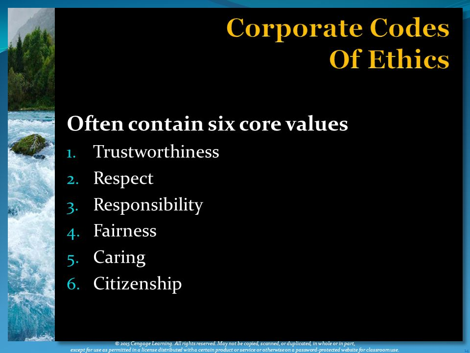 Corporate Codes Of Ethics