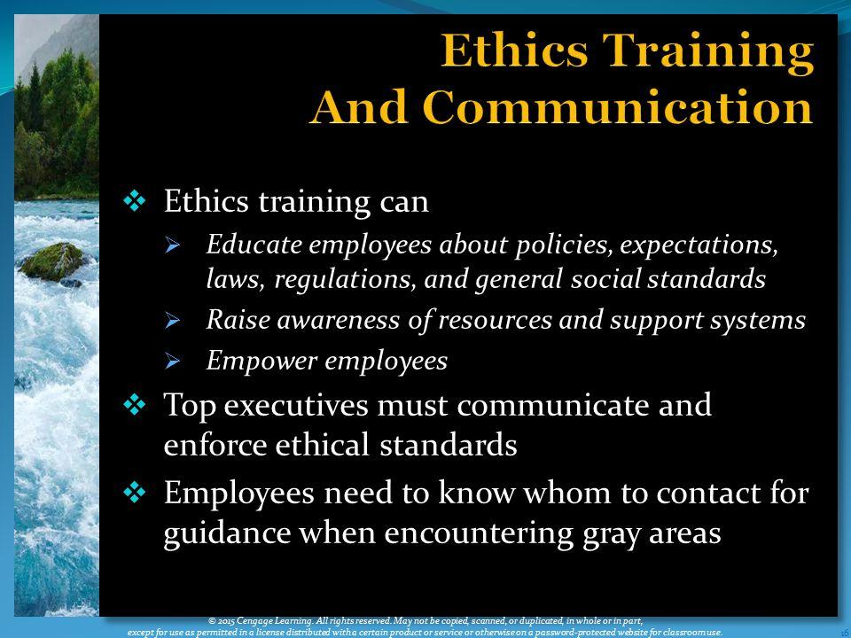 Ethics Training And Communication