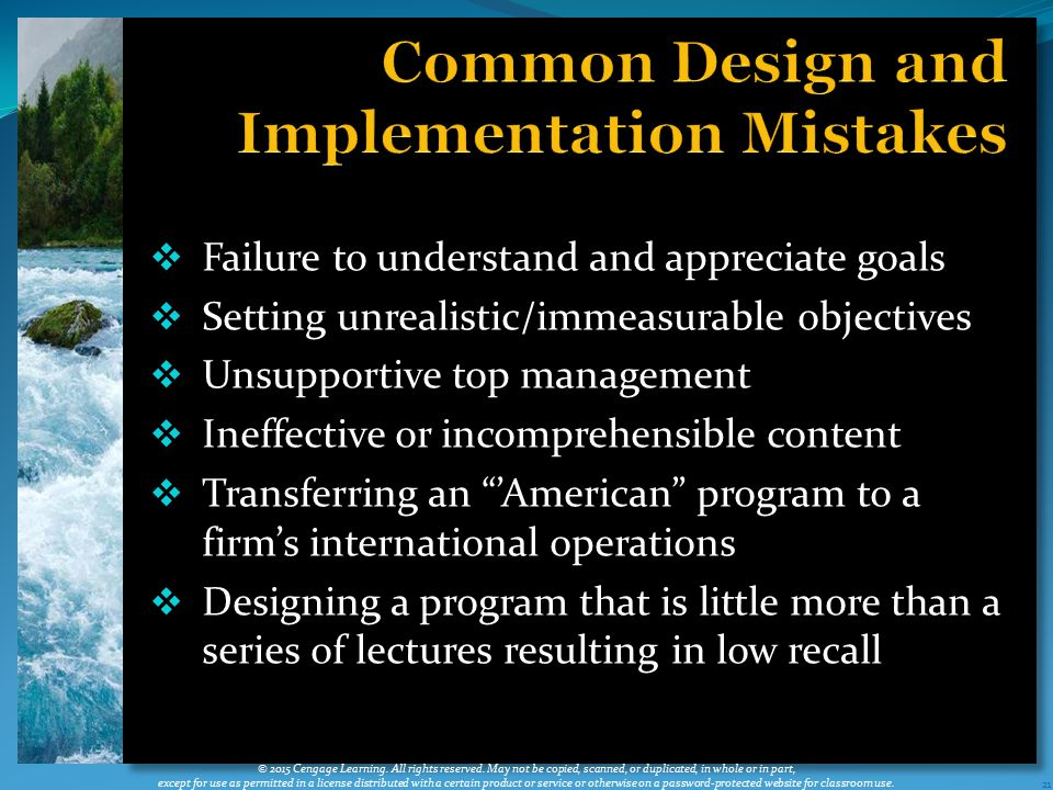 Common Design and Implementation Mistakes