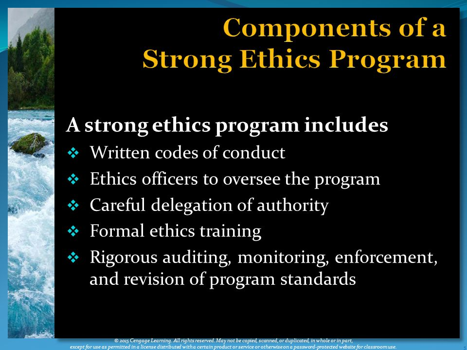 Components of a Strong Ethics Program