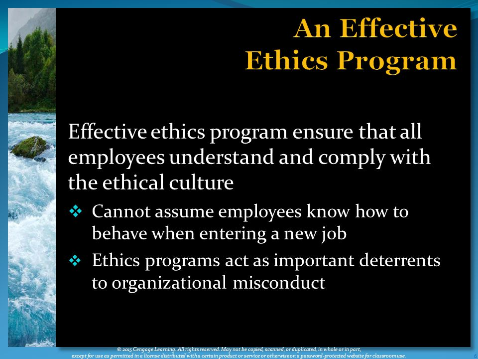 An Effective Ethics Program