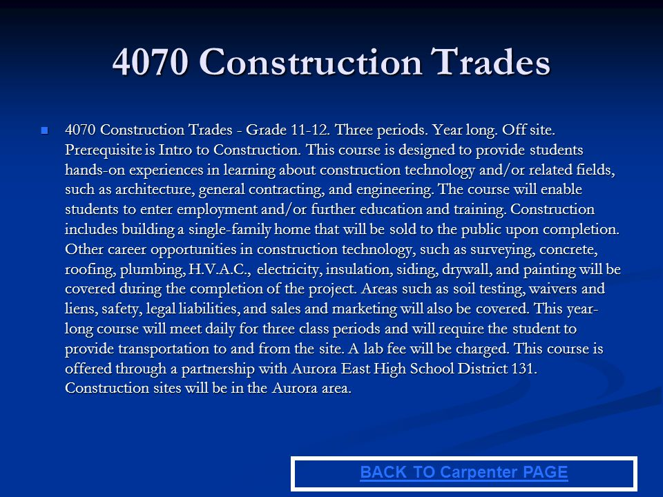 4070 Construction Trades