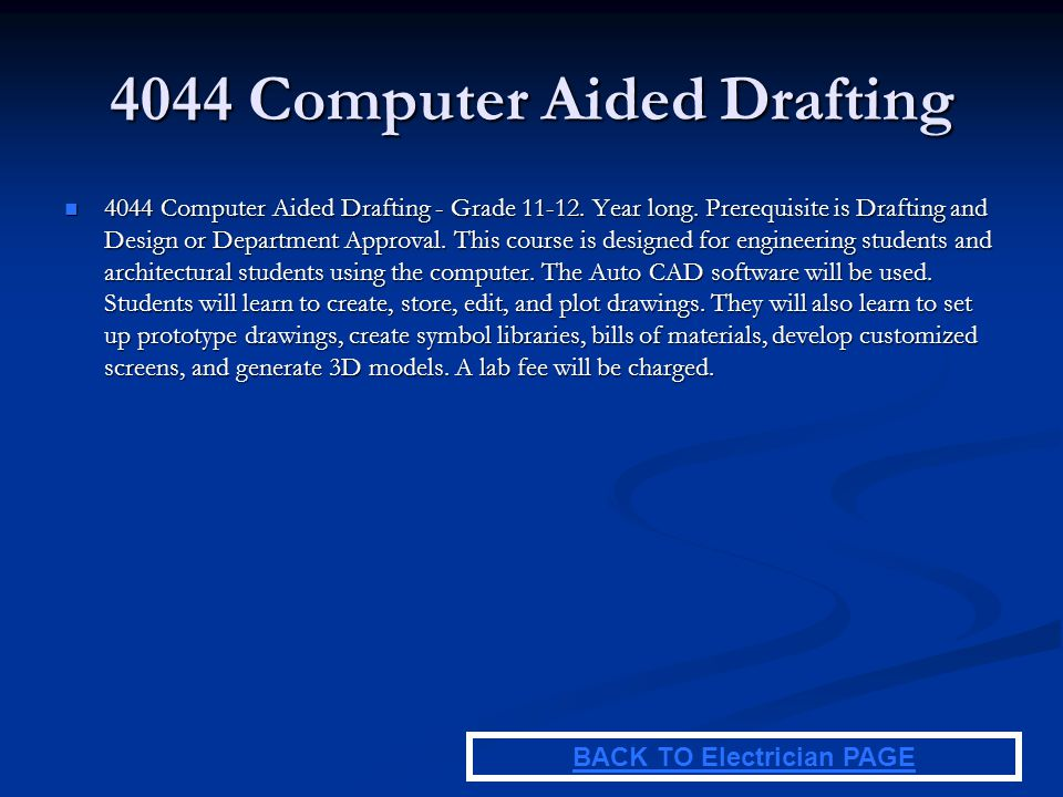 4044 Computer Aided Drafting