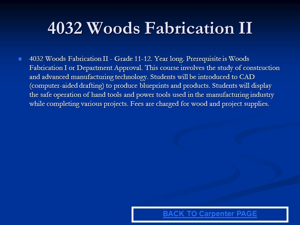 4032 Woods Fabrication II