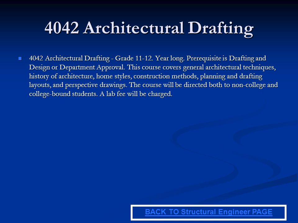 4042 Architectural Drafting