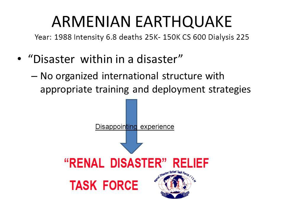 ARMENIAN EARTHQUAKE Year: 1988 Intensity 6