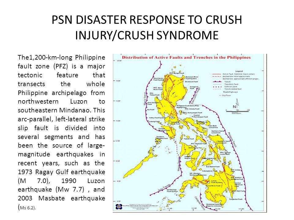 PSN DISASTER RESPONSE TO CRUSH INJURY/CRUSH SYNDROME
