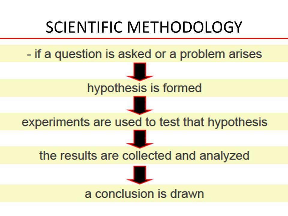 SCIENTIFIC METHODOLOGY