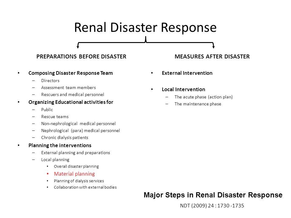 Renal Disaster Response