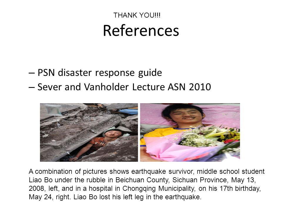 References PSN disaster response guide