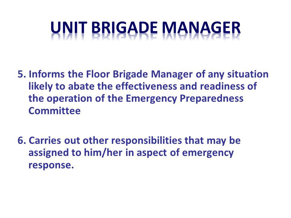 unit BRIGADE MANAGER