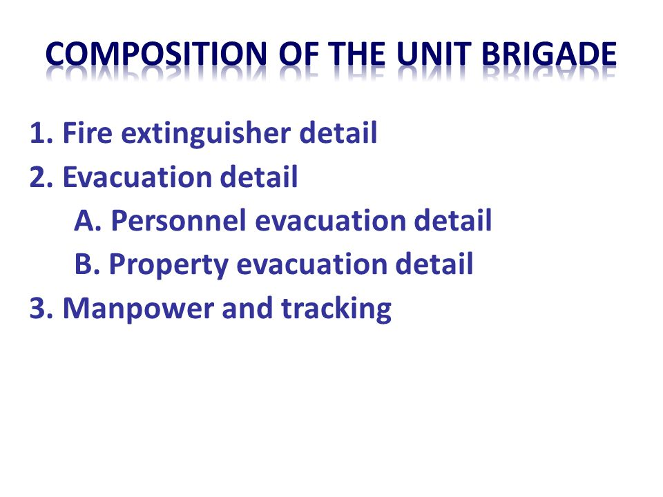 Composition of the unit brigade