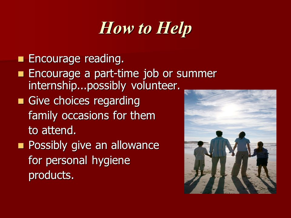 How to Help Encourage reading.