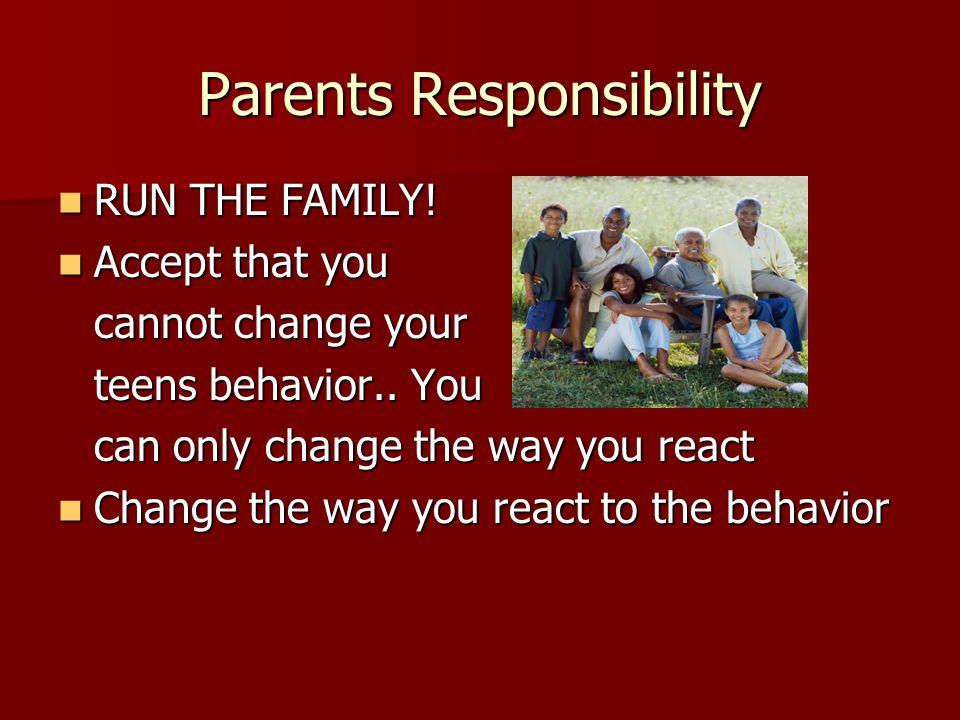 Parents Responsibility