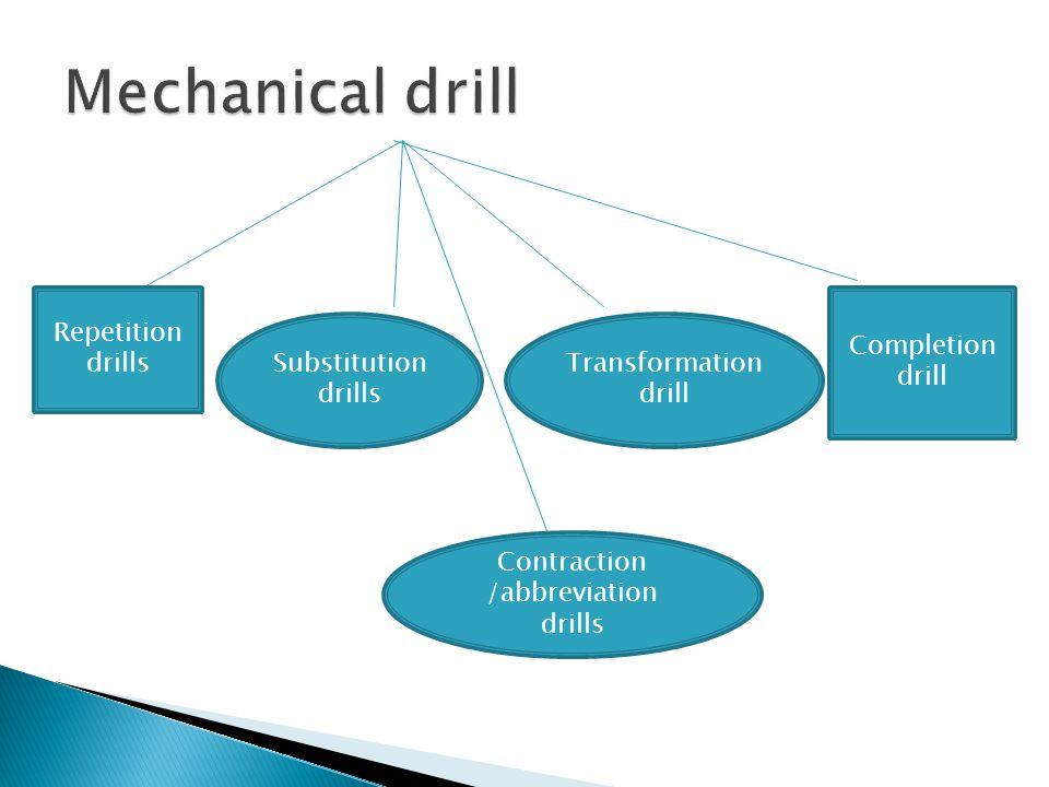 Contraction /abbreviation drills