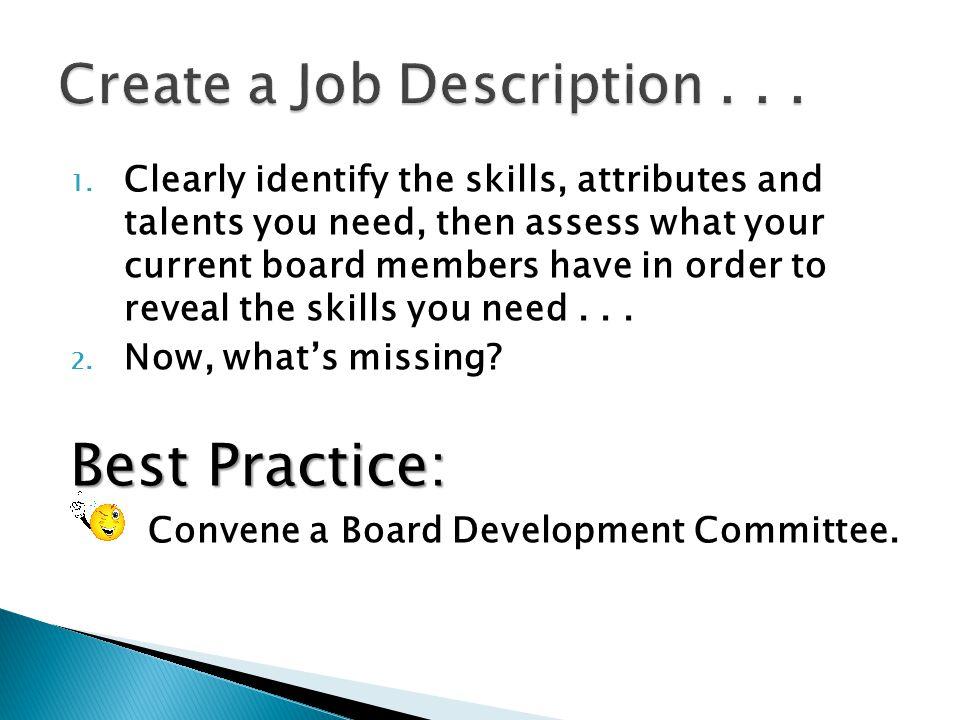 Create a Job Description . . .