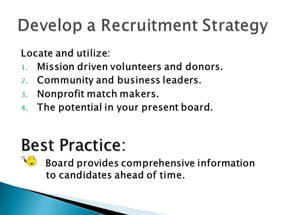 Develop a Recruitment Strategy