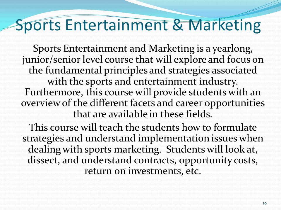 Sports Entertainment & Marketing