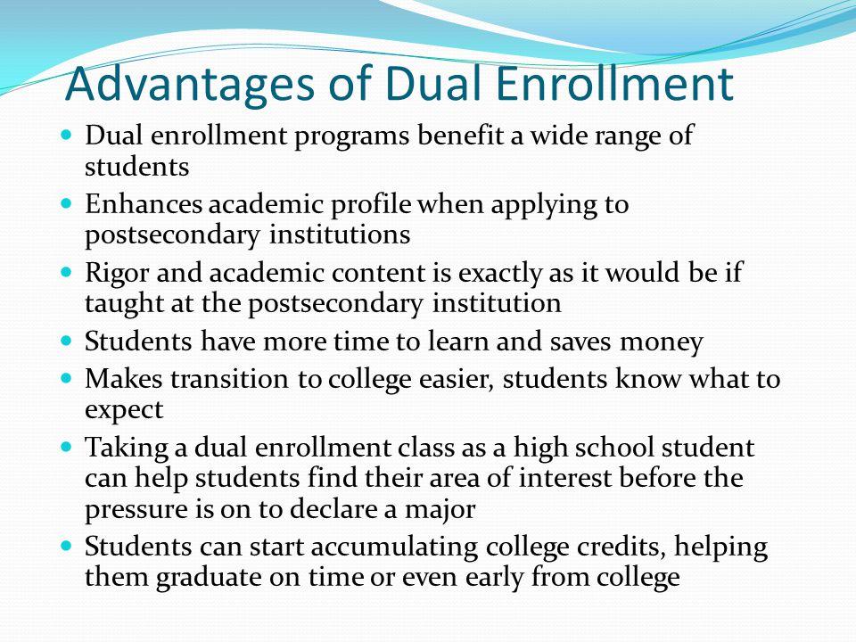 Advantages of Dual Enrollment