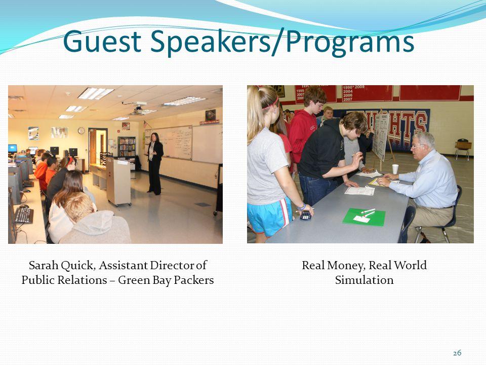 Guest Speakers/Programs