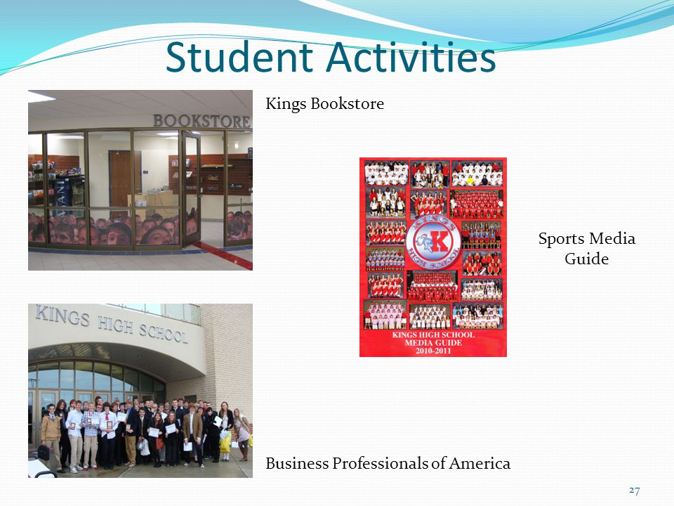 Student Activities Kings Bookstore Sports Media Guide