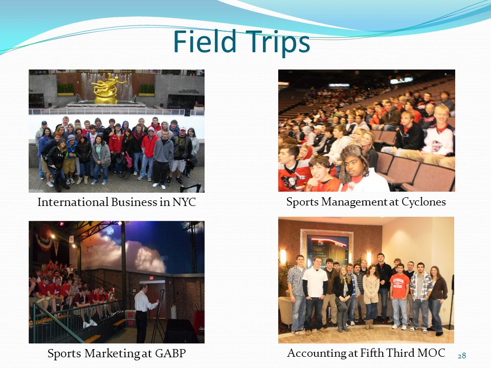 Field Trips International Business in NYC Sports Marketing at GABP