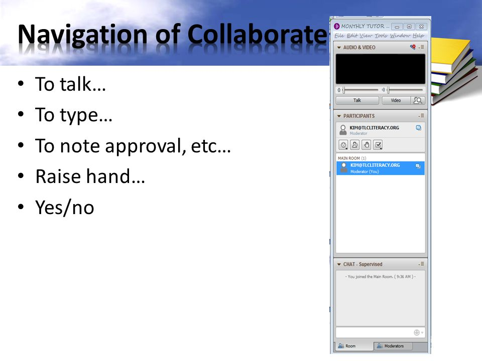 Navigation of Collaborate