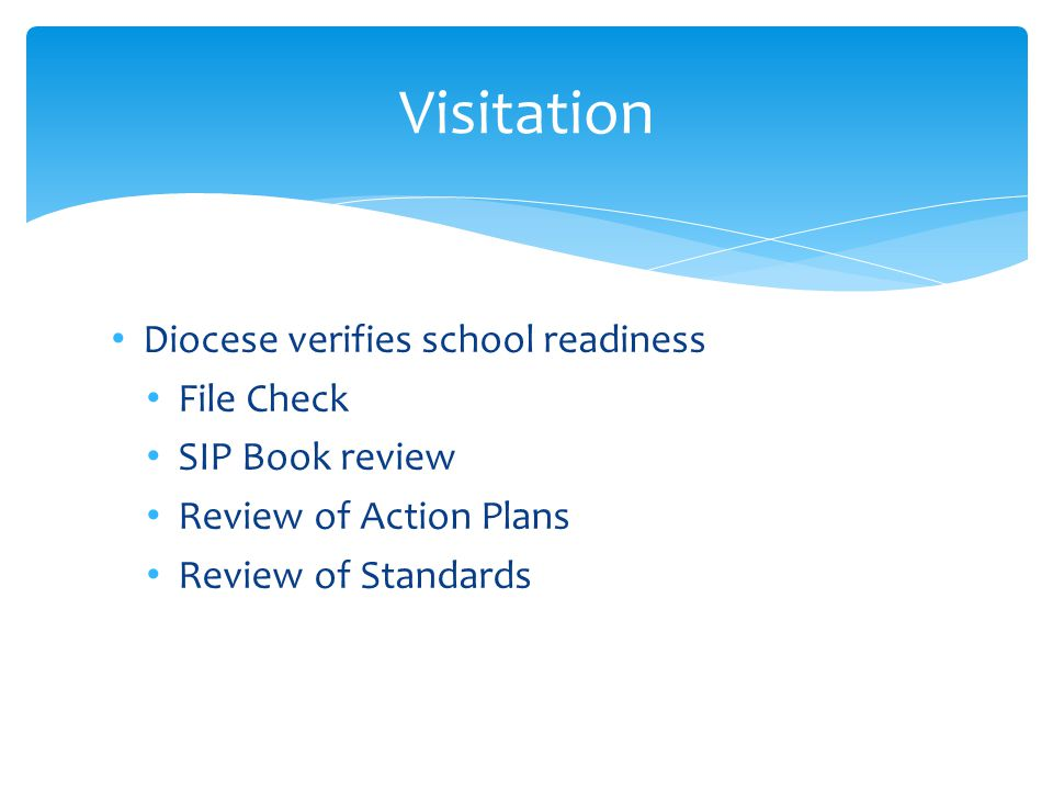 Visitation Diocese verifies school readiness File Check
