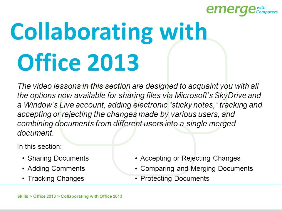 Collaborating with Office 2013