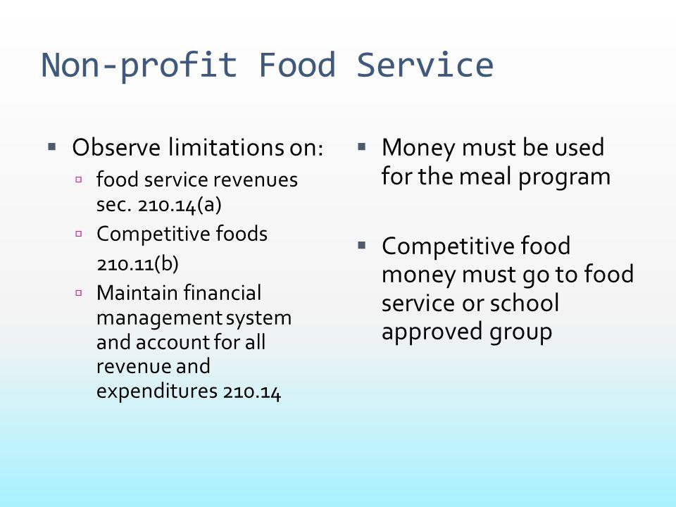 Non-profit Food Service