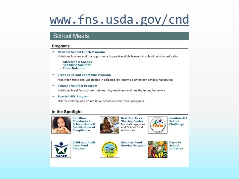 www.fns.usda.gov/cnd