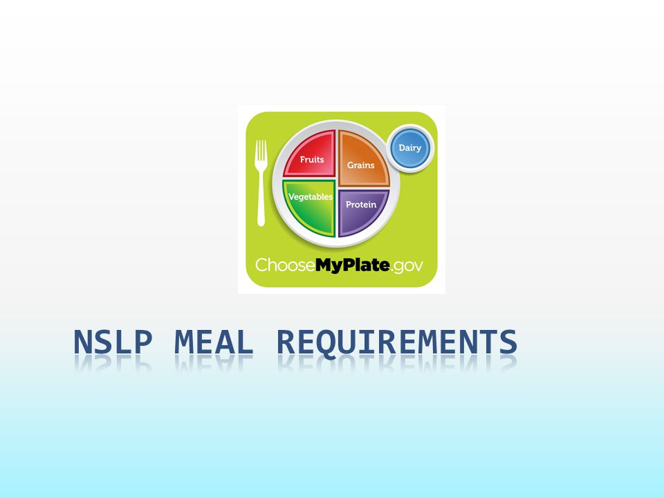 NSLP meal requirements