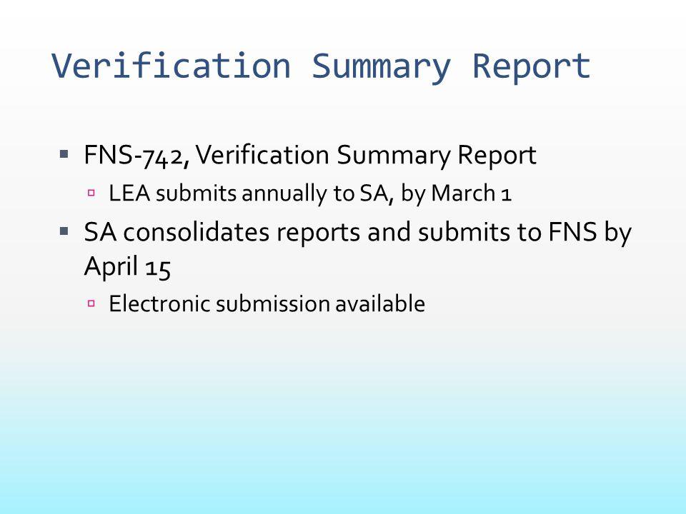 Verification Summary Report