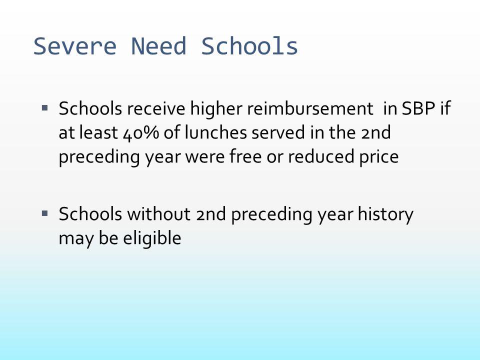 Severe Need Schools