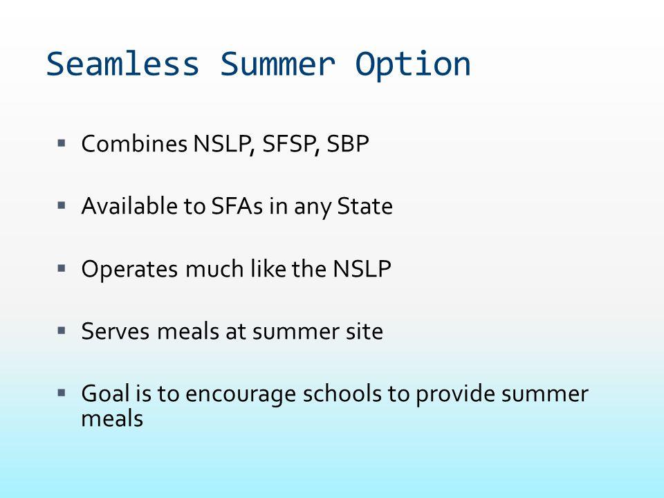 Seamless Summer Option