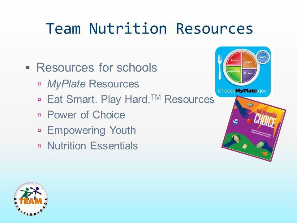 Team Nutrition Resources