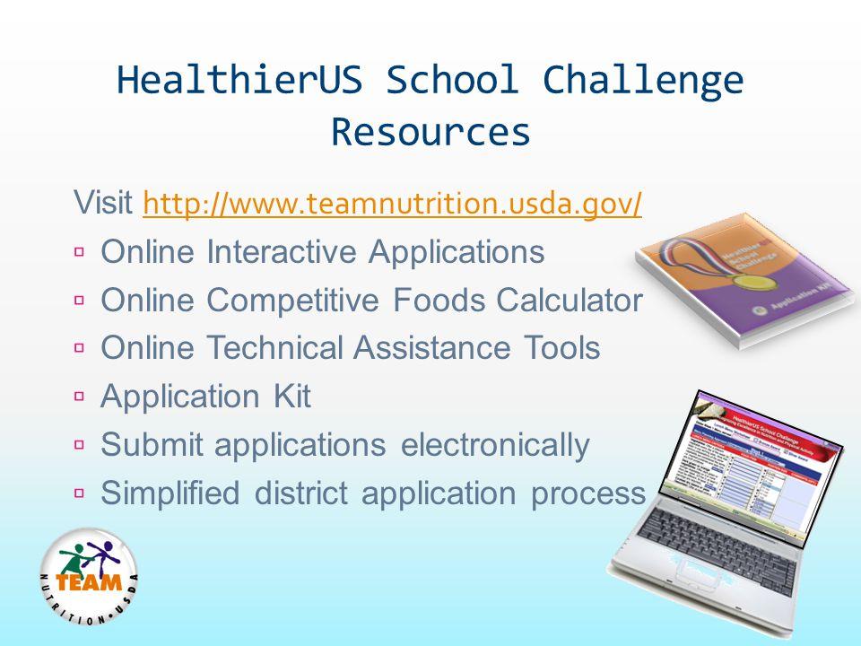 HealthierUS School Challenge Resources