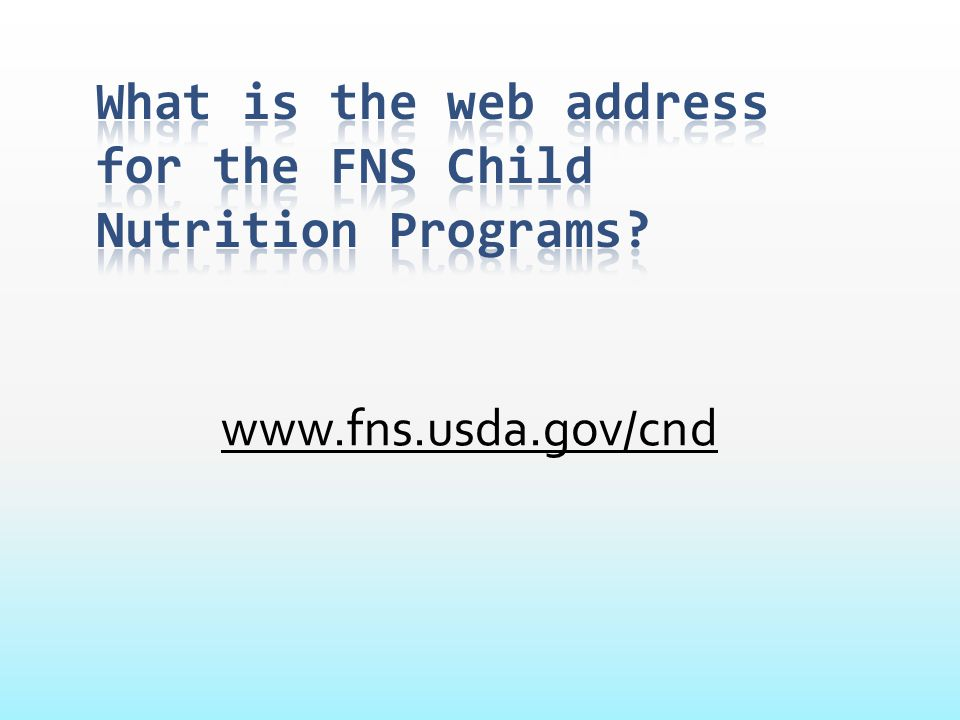 What is the web address for the FNS Child Nutrition Programs