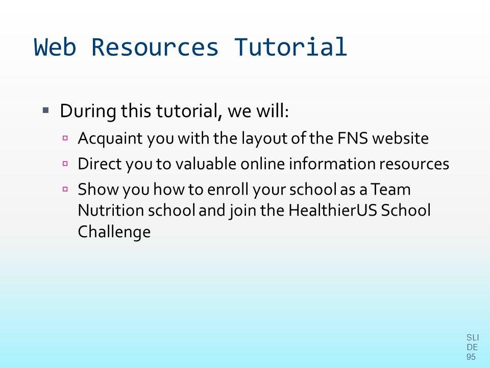 Web Resources Tutorial