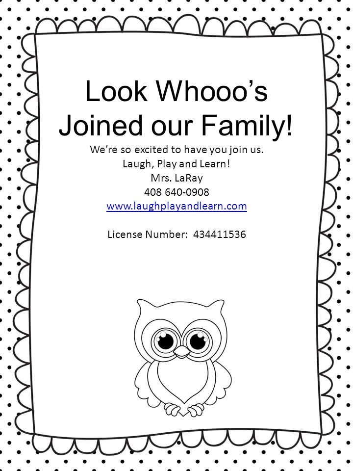 Look Whooo's Joined our Family!