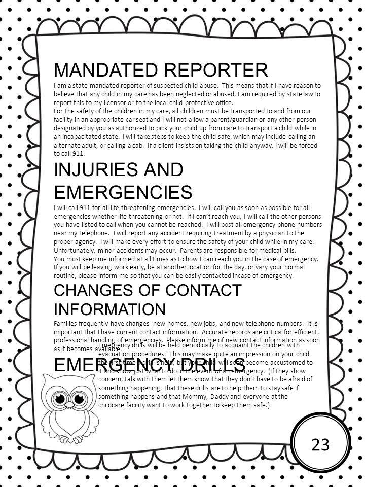 INJURIES AND EMERGENCIES