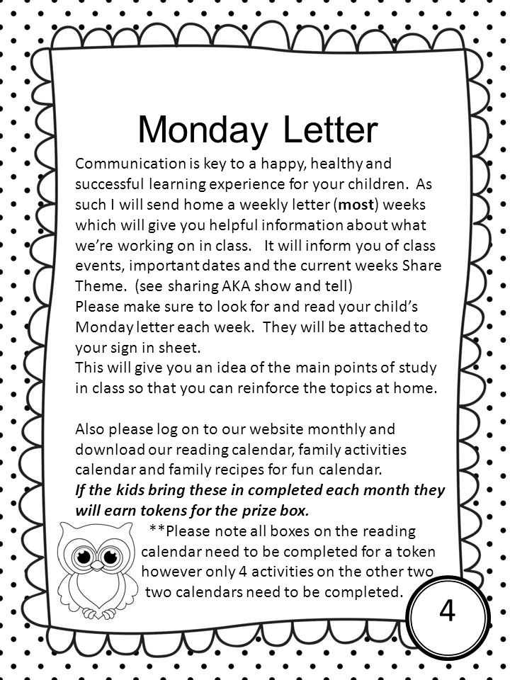 Monday Letter