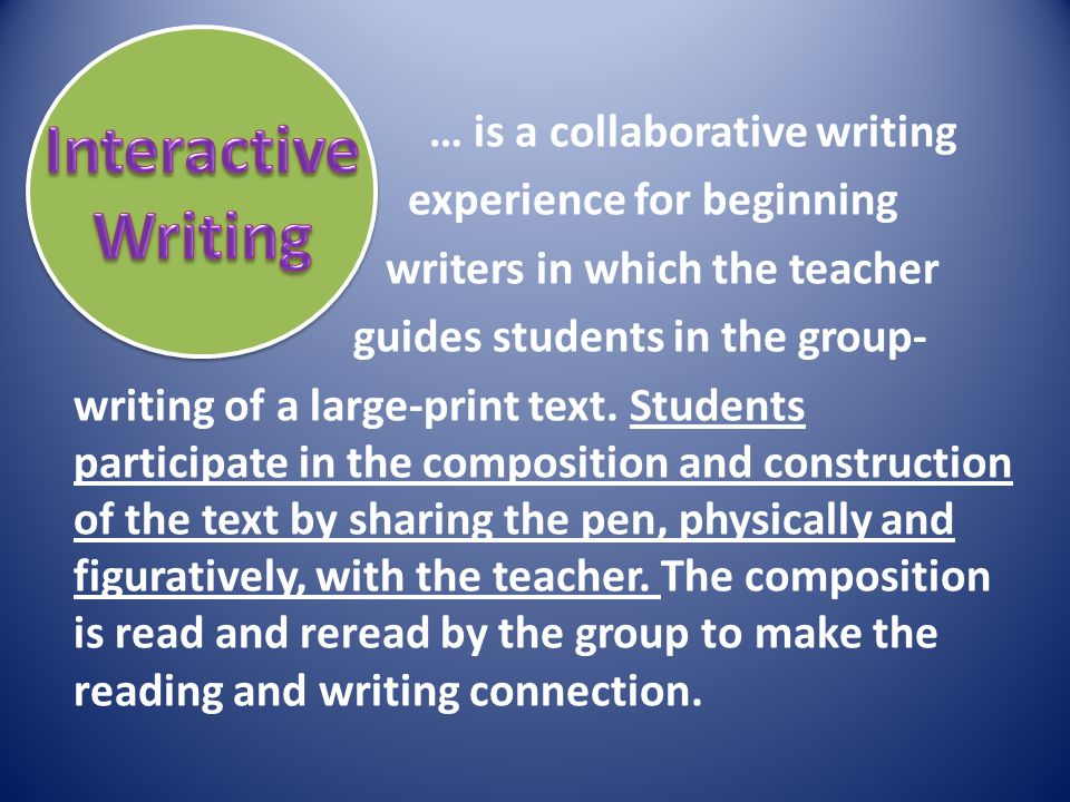 Interactive Writing.