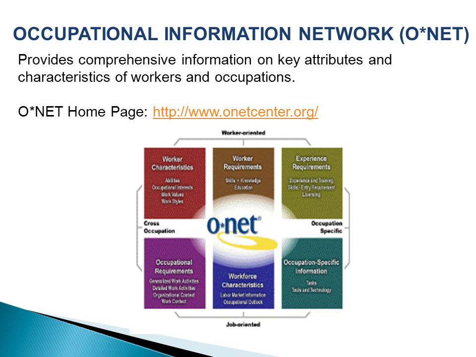 OCCUPATIONAL INFORMATION NETWORK (O*NET)