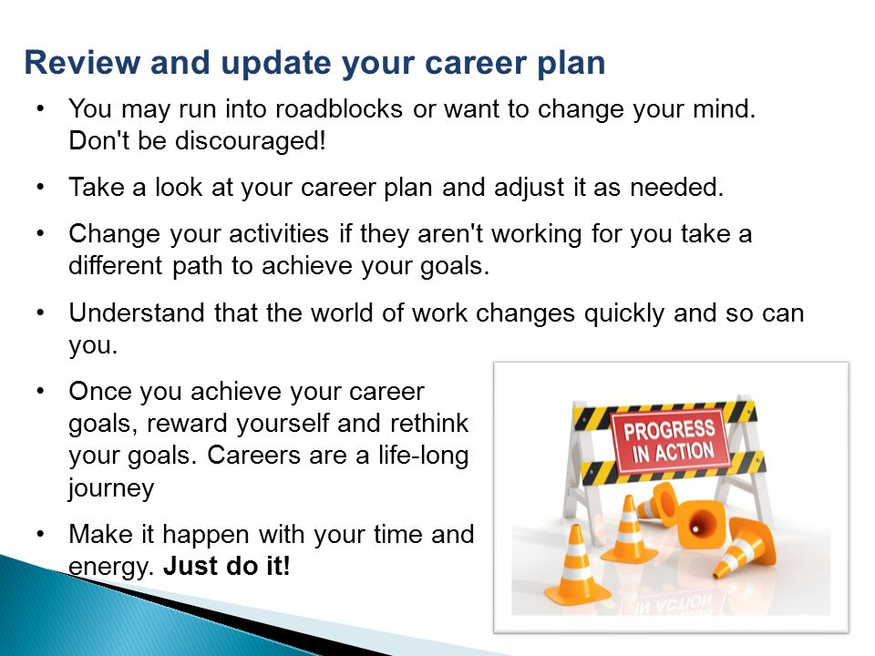 Review and update your career plan
