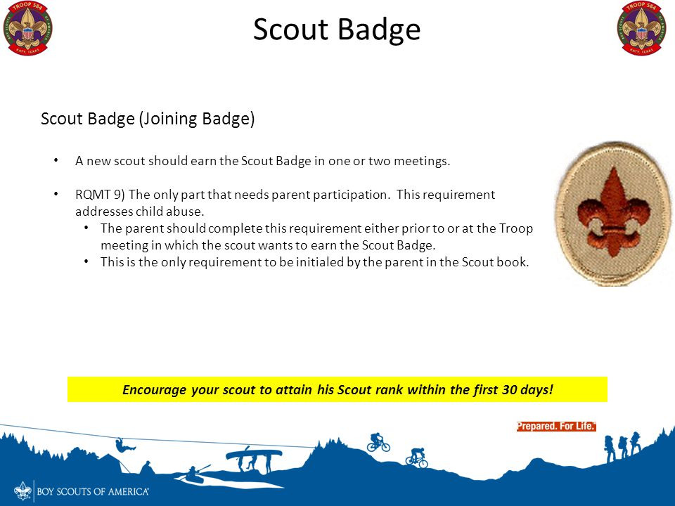Scout Badge Scout Badge (Joining Badge)