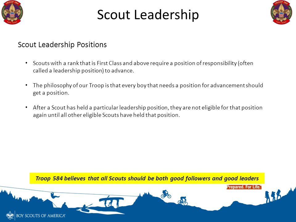 Scout Leadership Scout Leadership Positions