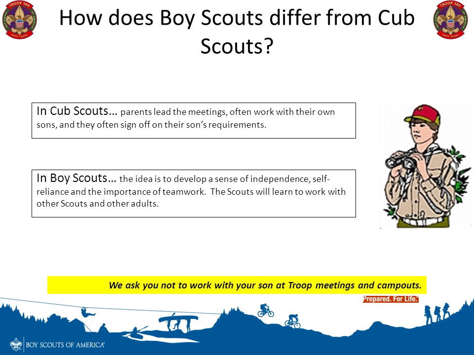 How does Boy Scouts differ from Cub Scouts